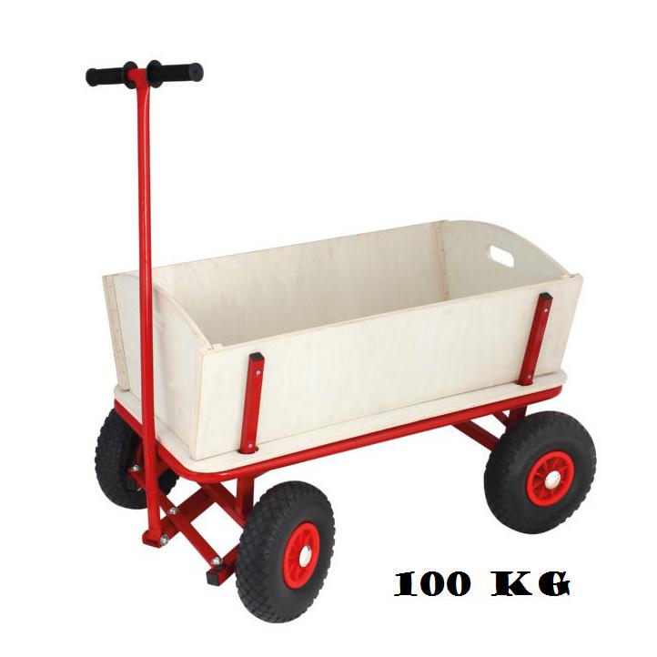 Billede af Trækvogn med Gummihjul - Max. belastning på 100 kg