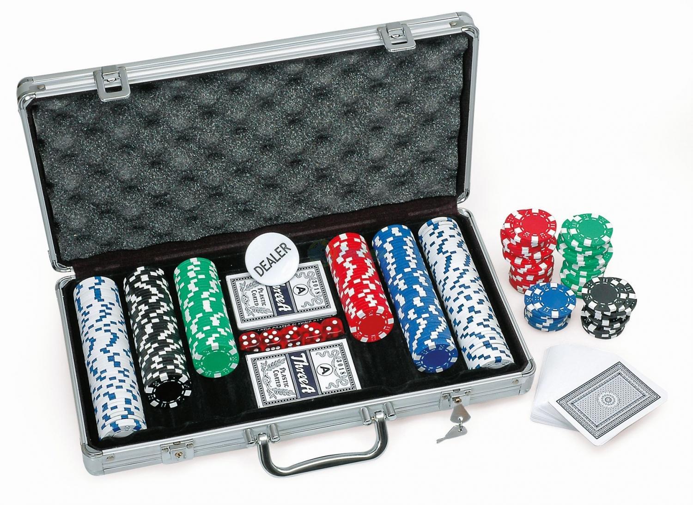 Billede af Pokersæt med 300 chips - Leveret i kuffert