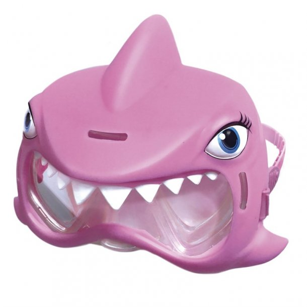 Pink haj dykkermaske