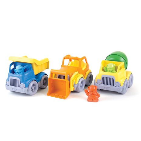Image of   100% genbrugsplasts construction Trucks fra Green Toys