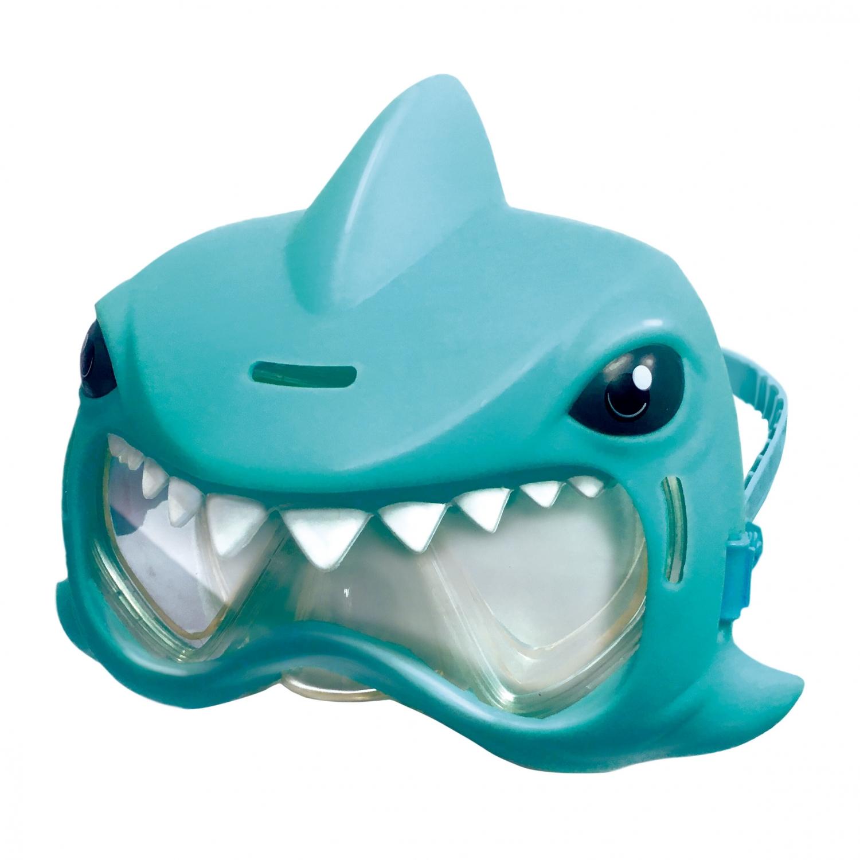 Image of   Blå haj dykkermaske
