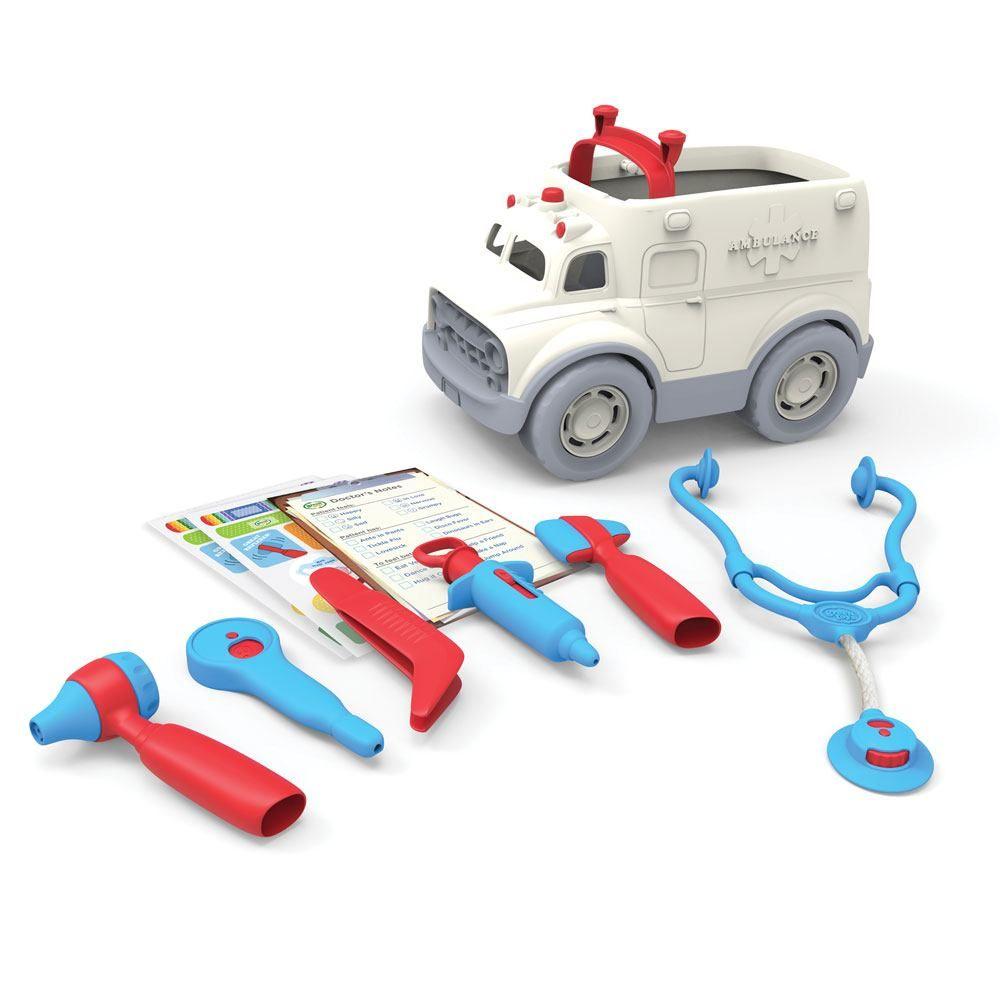 Image of   Green Toys - Ambulance & Doctors Kit lavet af 100% genbrugsplastik