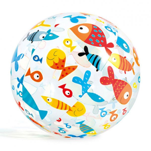 Badebold med fisk som motiv - Ø 50 cm