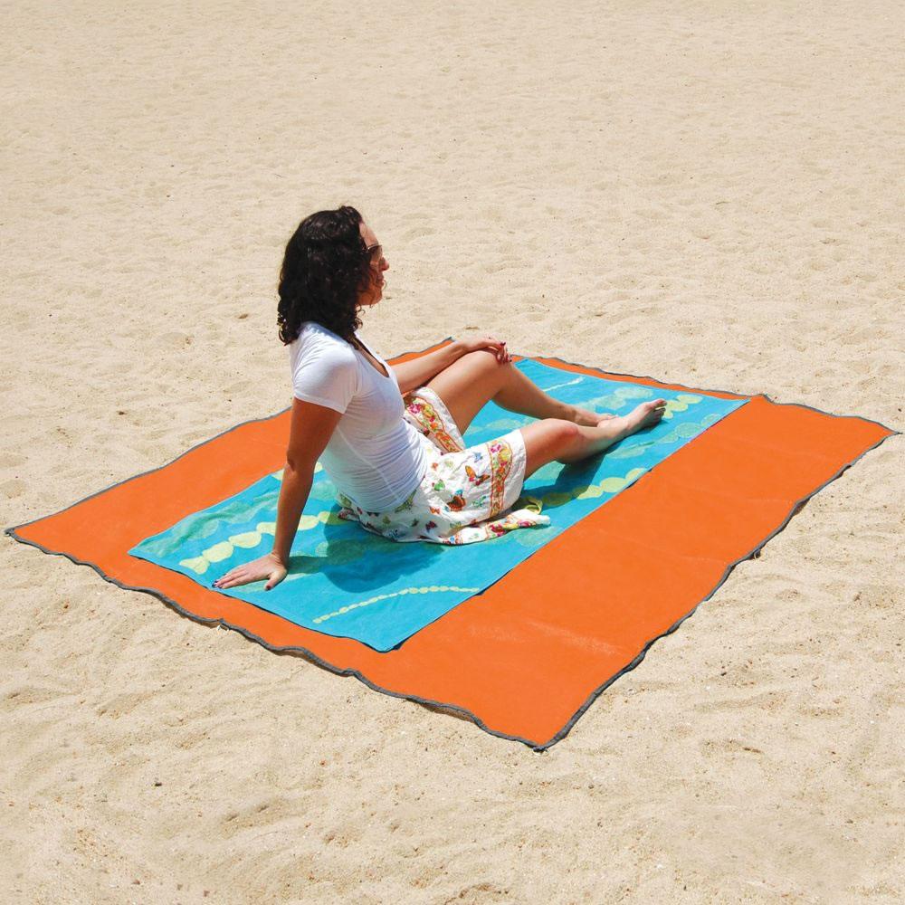 Billede af CGear Sandfrit tæppe - Orange/Sand 1.83 m x 1.83 m