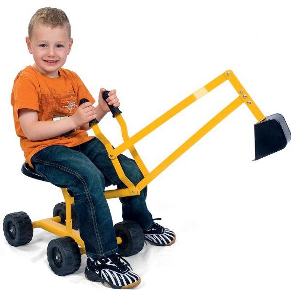 Image of   Klassisk gravemaskine med hjul - Perfekt til sandkassen
