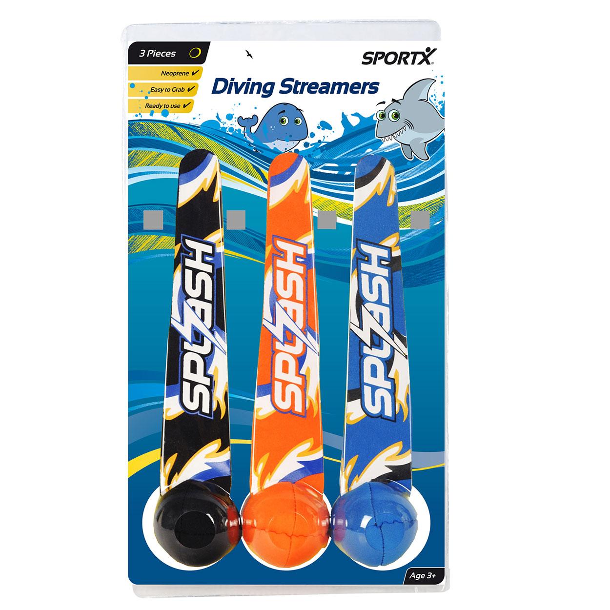 Billede af SportX Neopren diving streamers - 3 stk. pk.