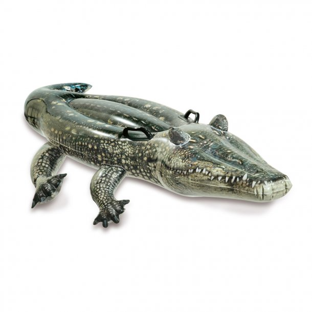 Badedyr - Grøn, farlig Krokodille fra Intex