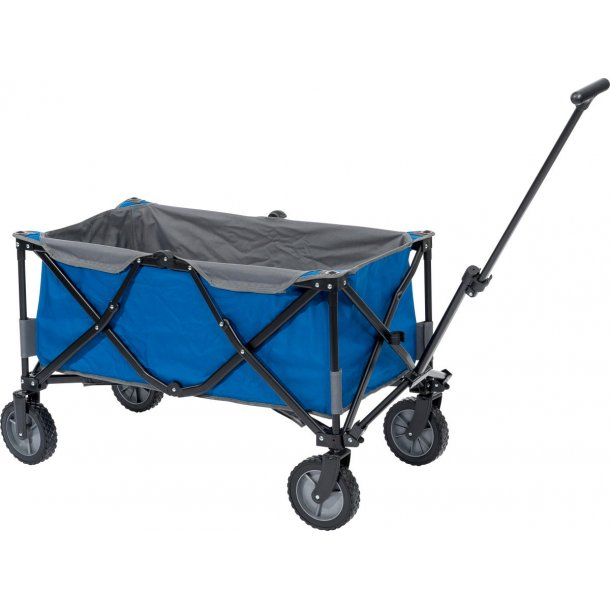 Blå foldbar trækvogn - Max. belastning på 100 kg