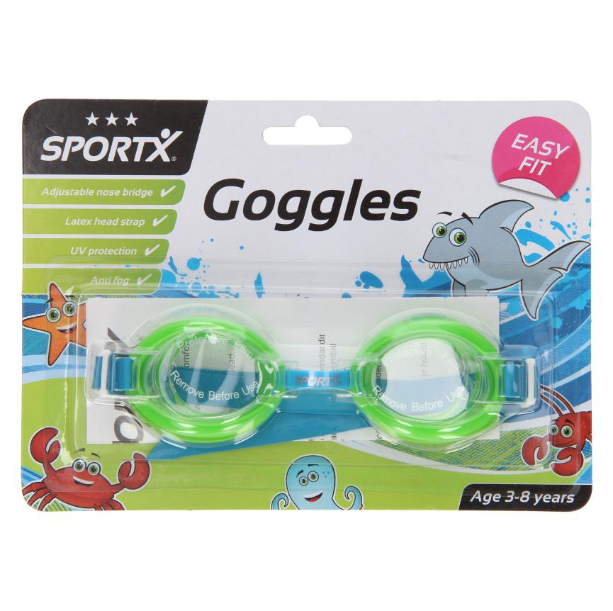 Image of   SportX Svømmebriller i Grøn - 3 til 8 år