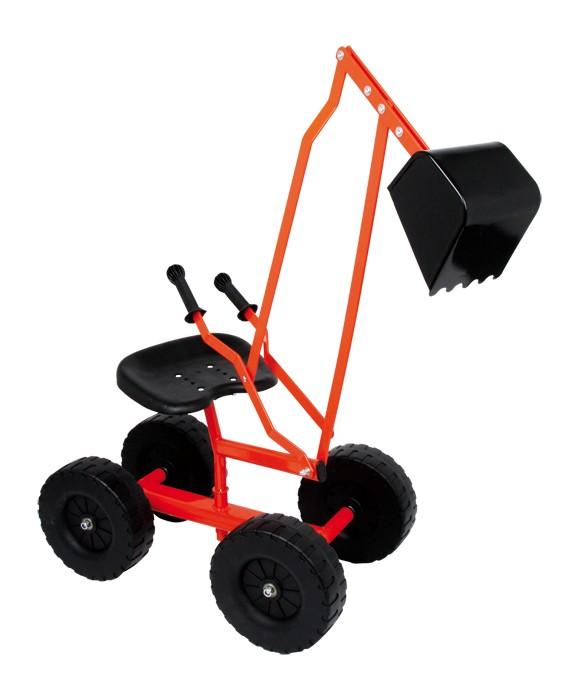 Image of   Klassisk gravemaskine med hjul og afmærket bom