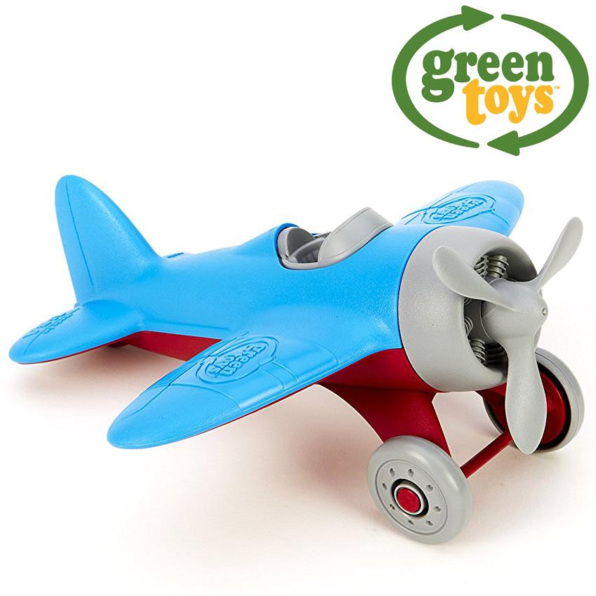 Image of   Green Toys - Flyvemaskine med blå vinger lavet af 100% genbrugsplastik