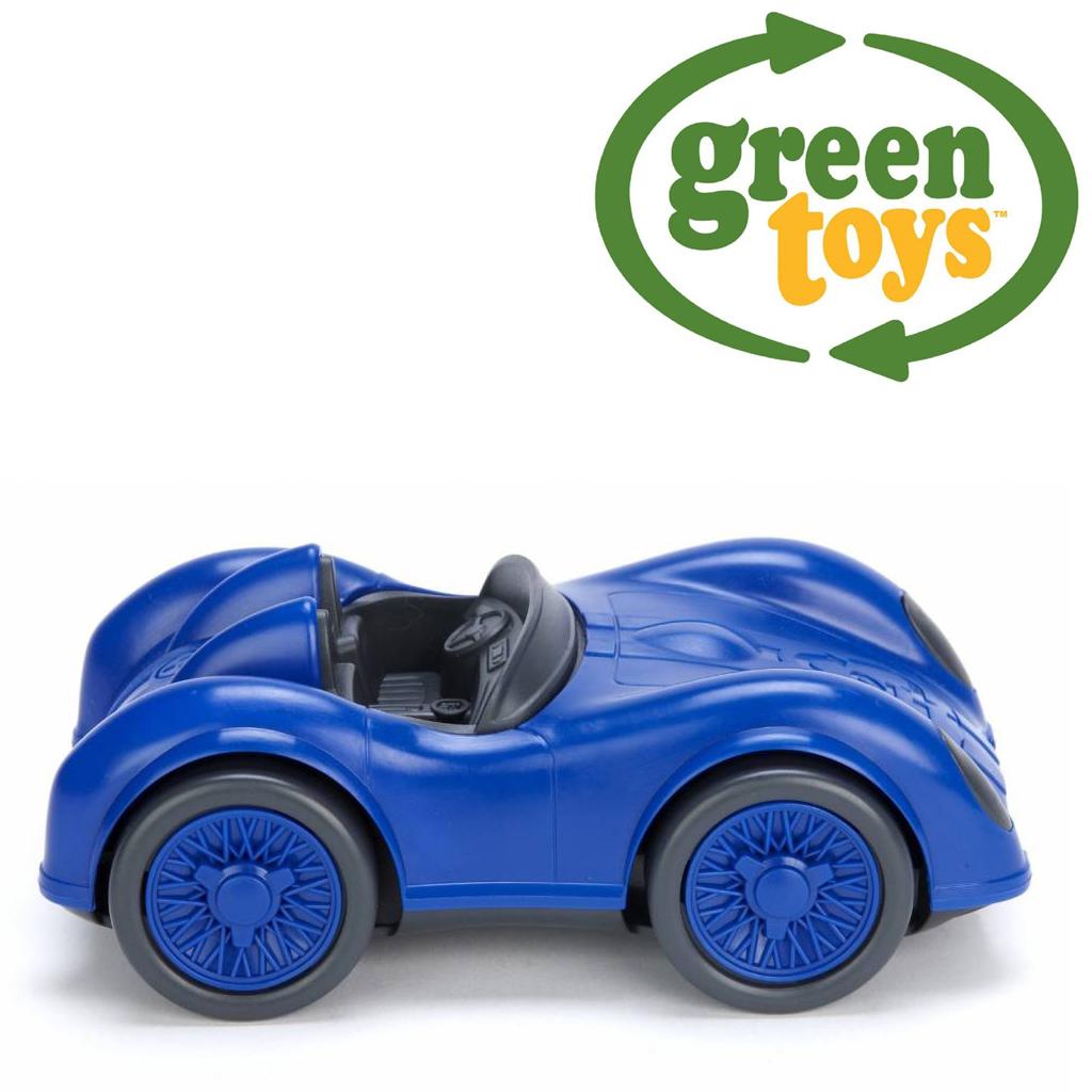 Image of   Green Toys - Blå Racerbil lavet af 100% genbrugsplastik