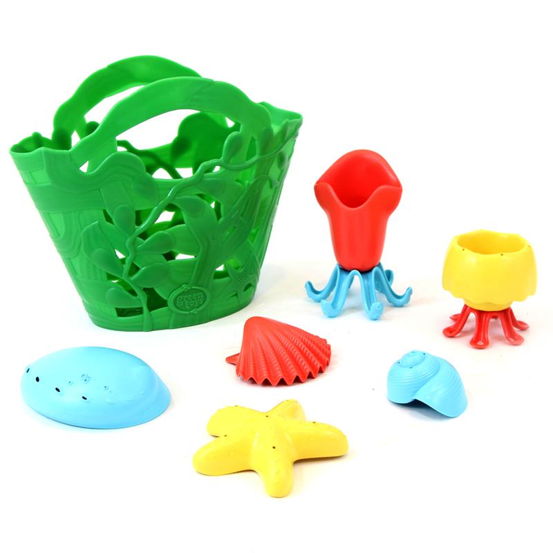 Image of   Green Toys - Tide Pool Bath Set - Lavet af 100% genbrugsplastik