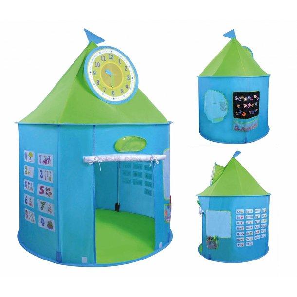 Aktivitet legetelt - Lær klokken, tal og bogstaver