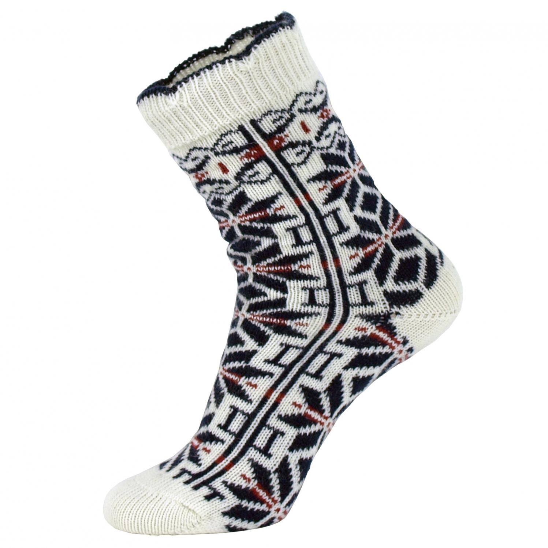 5ea49b7e00c Norske uld sokker med blå stjerner - UldSokker - NorStrik ( MaxiLegetoj.dk )