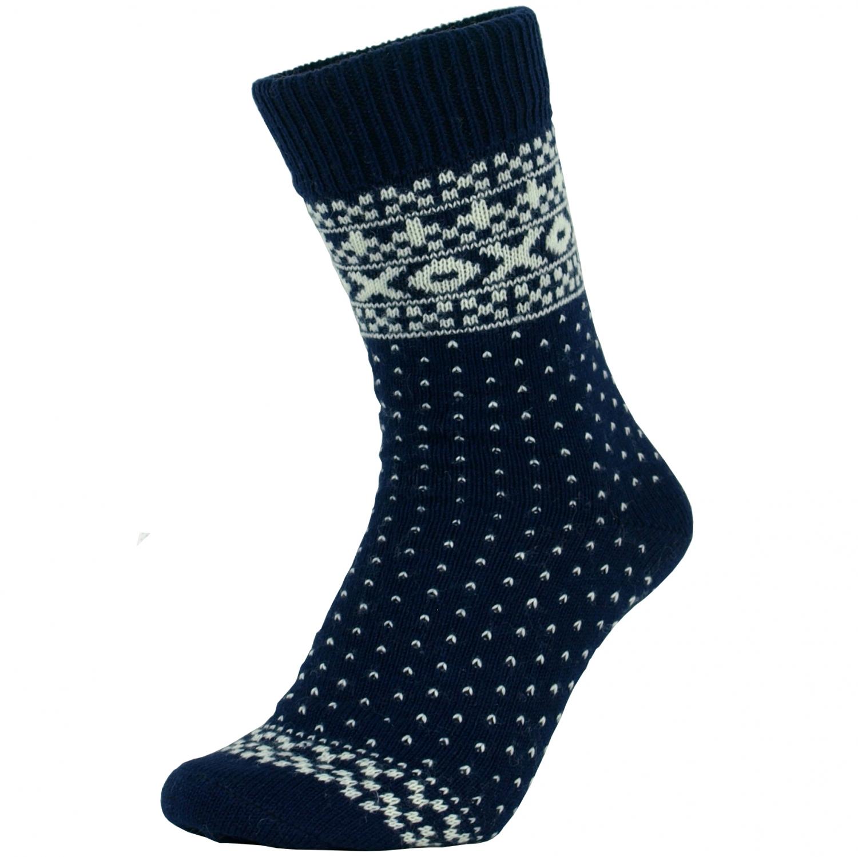 0b87bff2a96 Norske uld sokker i blå med hvide lus mønster - UldSokker - NorStrik (  MaxiLegetoj.dk )