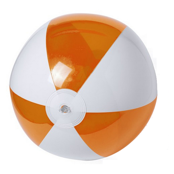 Image of   Oppustelig badebold - Orange Ø28 cm