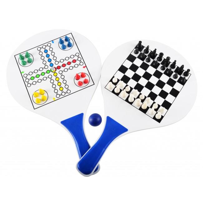 Image of   Strandtennis med indbygget ludo og skak