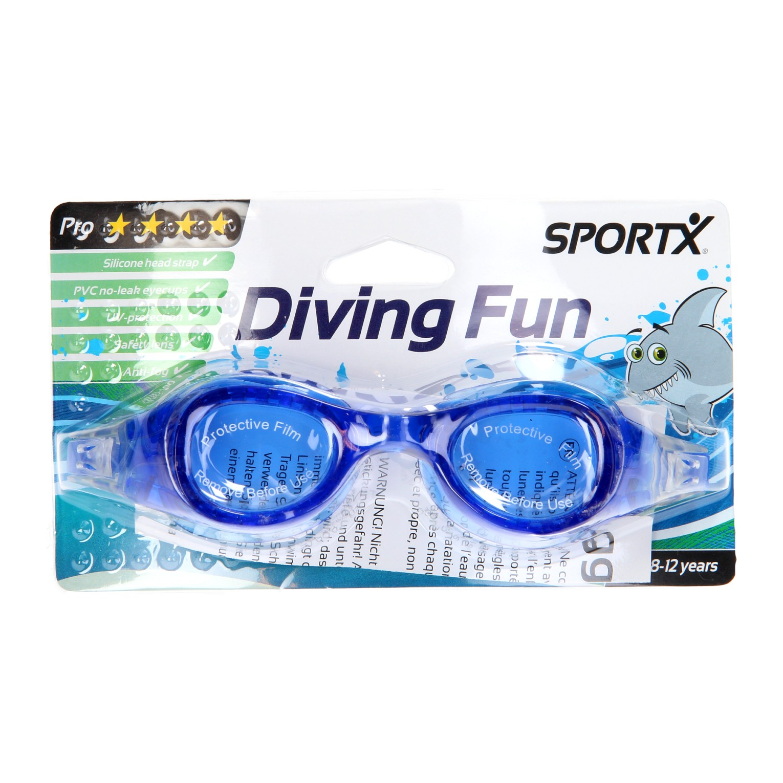 Billede af SportX Pro Svømmebriller i Blå - 8 til 12 år