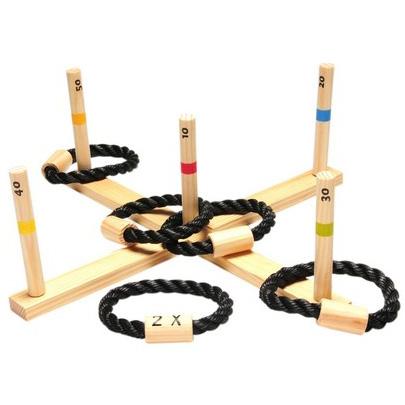 Image of   Træ ringkast spil med 5 ringe - Udespil fra Buiten Speel